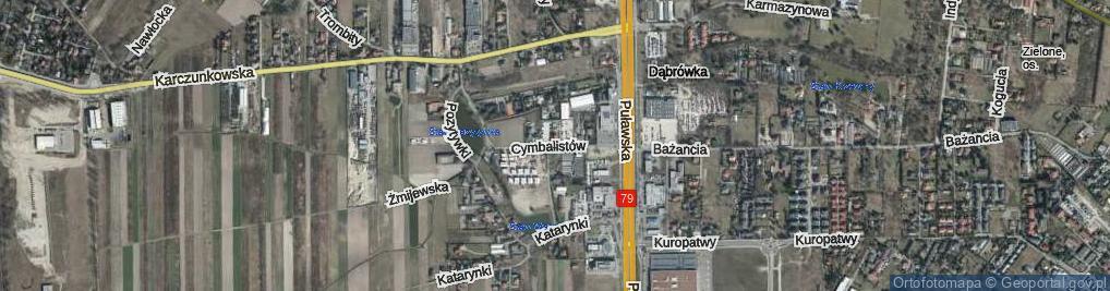 Zdjęcie satelitarne Cymbalistów ul.
