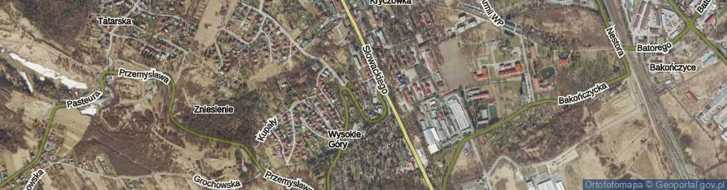 Zdjęcie satelitarne Czachowskiego Dionizego, płk. ul.