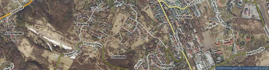 Zdjęcie satelitarne Czerwieńska ul.