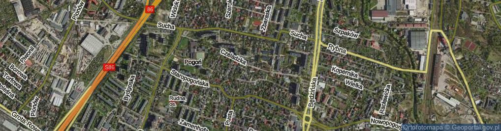 Zdjęcie satelitarne Czeladzka ul.