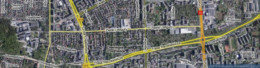 Zdjęcie satelitarne Czecha ul.