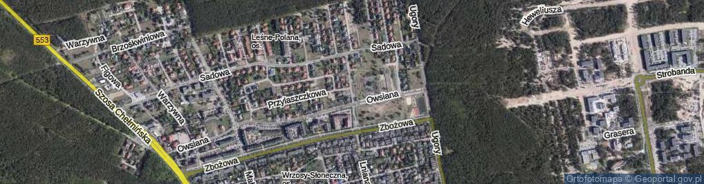 Zdjęcie satelitarne Czeremchowa ul.