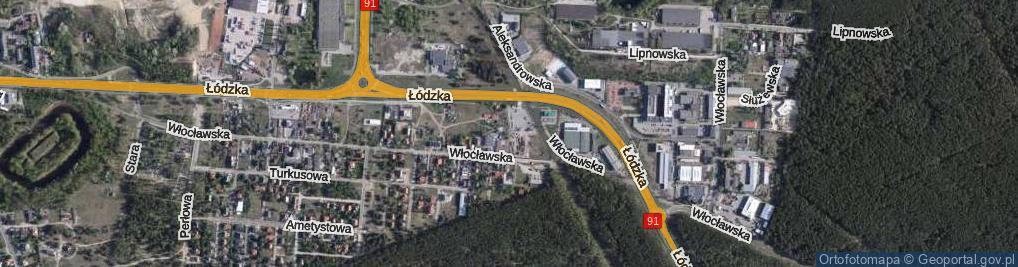Zdjęcie satelitarne Czerniewicka ul.