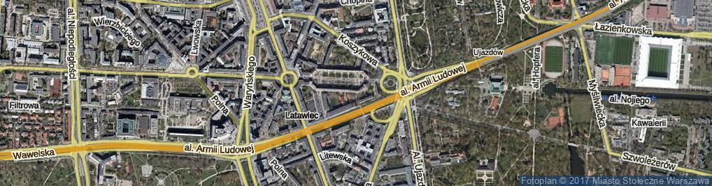 Zdjęcie satelitarne Czerwijowskiego Faustyna ul.