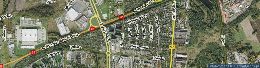 Zdjęcie satelitarne Czysta ul.