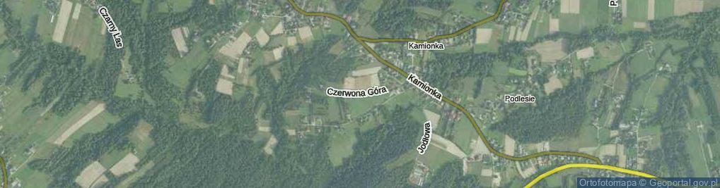 Zdjęcie satelitarne Czerwona Góra ul.