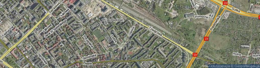 Zdjęcie satelitarne Daleka ul.