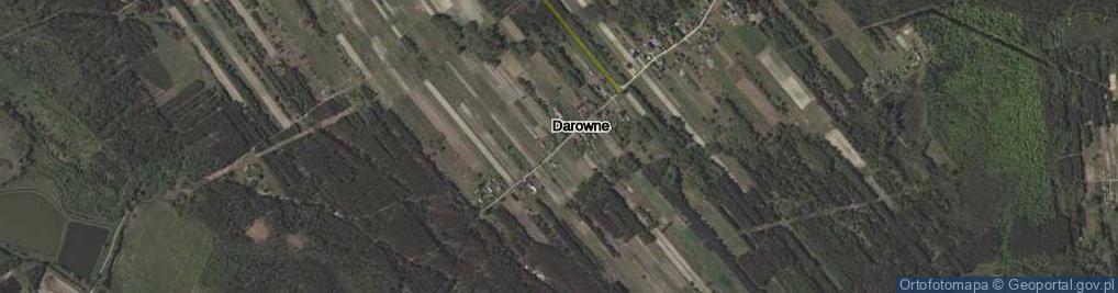 Zdjęcie satelitarne Darowne ul.