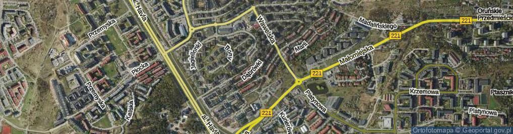 Zdjęcie satelitarne Dąbrówki ul.