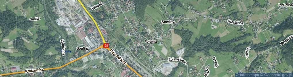 Zdjęcie satelitarne Darniowa ul.