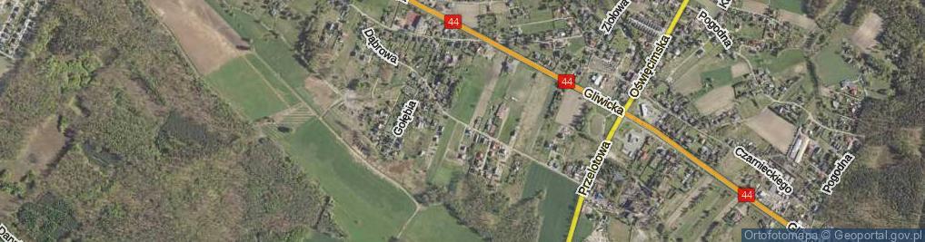 Zdjęcie satelitarne Dąbrowa ul.