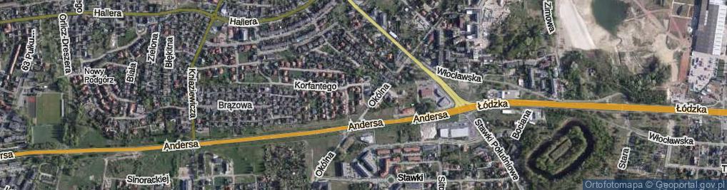 Zdjęcie satelitarne Dandelskiego Zdzisława ul.
