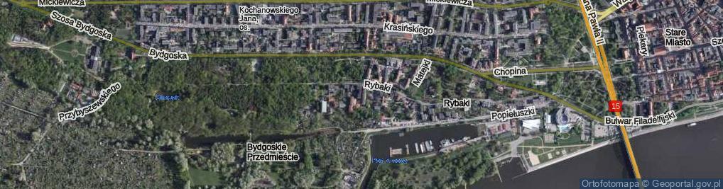 Zdjęcie satelitarne Danielewskiego Ignacego ul.