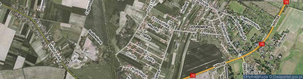 Zdjęcie satelitarne Dąbka Stanisława, gen. ul.