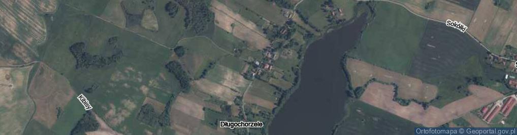 Zdjęcie satelitarne Długochorzele ul.