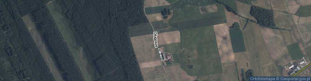 Zdjęcie satelitarne Długosze ul.