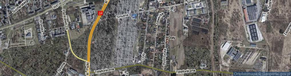 Zdjęcie satelitarne Doły ul.