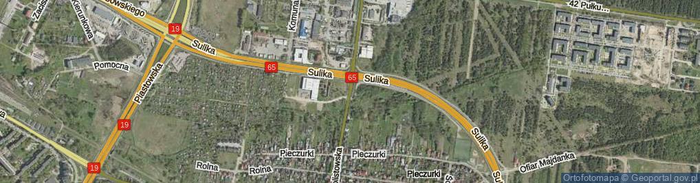 Zdjęcie satelitarne Dolistowska ul.