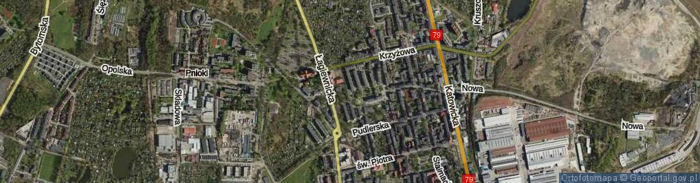 Zdjęcie satelitarne Dombka Pawła ul.