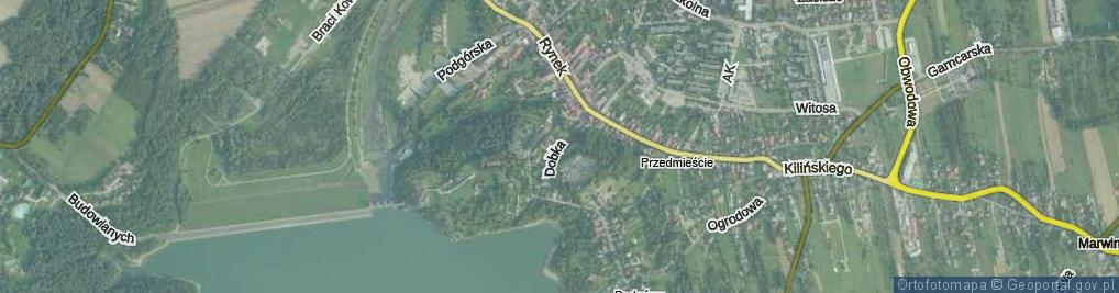 Zdjęcie satelitarne Dobka, kasztelana ul.