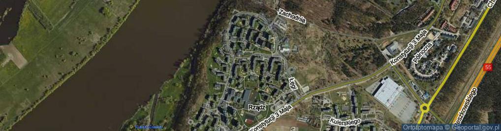 Zdjęcie satelitarne Dobrzańskiego-Hubala Henryka, mjr. ul.