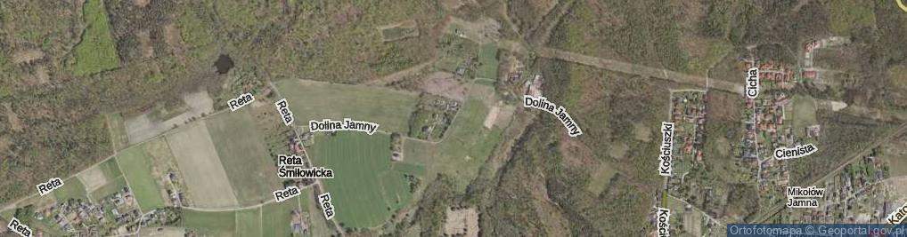 Zdjęcie satelitarne Dolina Jamny ul.