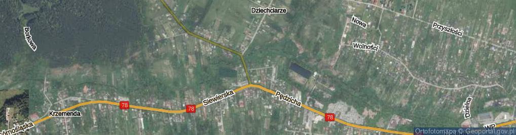 Zdjęcie satelitarne Do Przemszy ul.