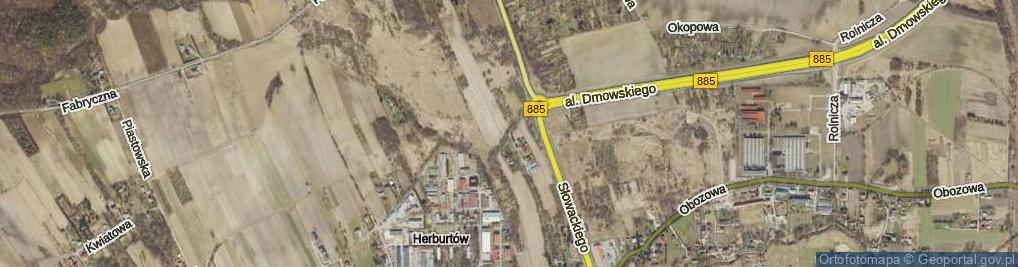 Zdjęcie satelitarne Dojazdowa ul.