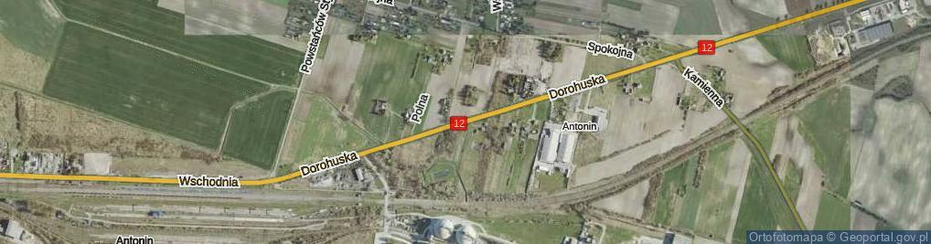 Zdjęcie satelitarne Dorohuska ul.