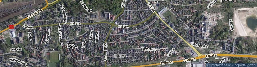 Zdjęcie satelitarne Domachowskiego Józefa, ks. ul.