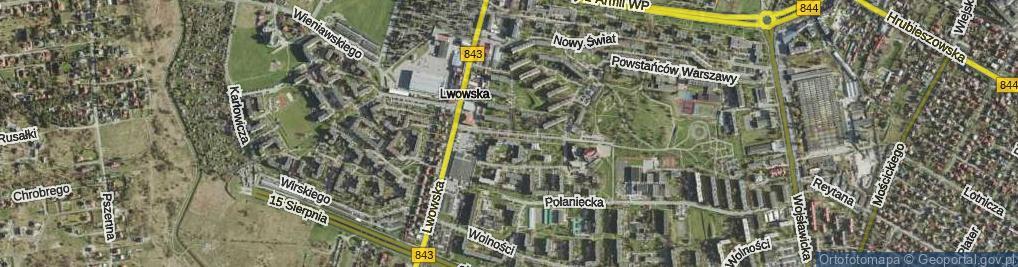 Zdjęcie satelitarne Droga Męczenników ul.