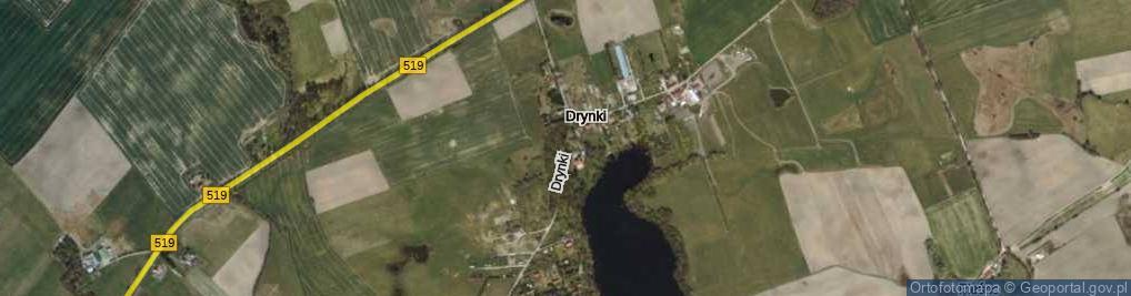 Zdjęcie satelitarne Drynki ul.
