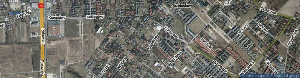 Zdjęcie satelitarne Drozda ul.