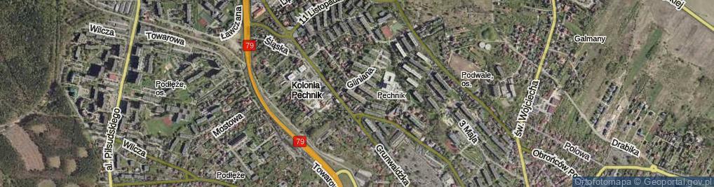 Zdjęcie satelitarne Drzewianki ul.