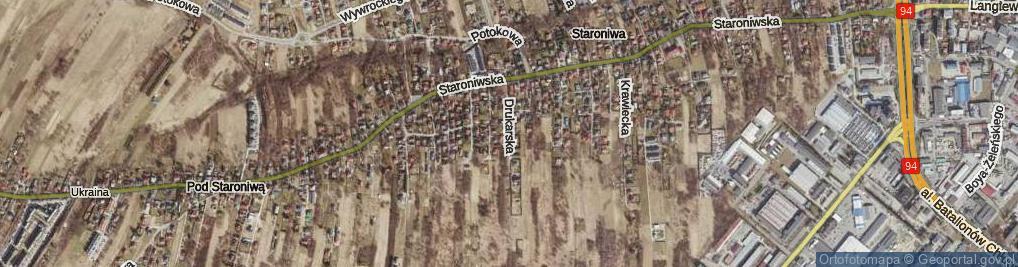 Zdjęcie satelitarne Drukarska ul.
