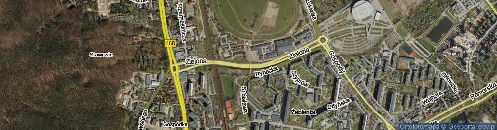 Zdjęcie satelitarne Droga Zielona ul.