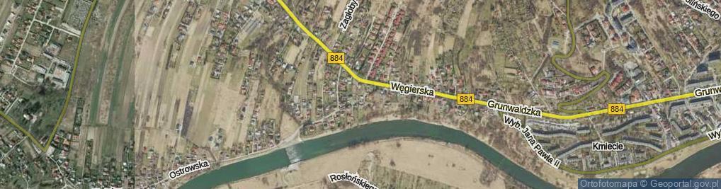 Zdjęcie satelitarne Dubiecka ul.