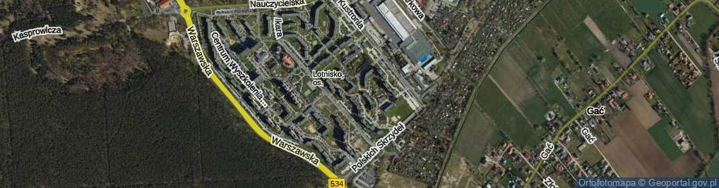 Zdjęcie satelitarne Dywizjonu 303 ul.