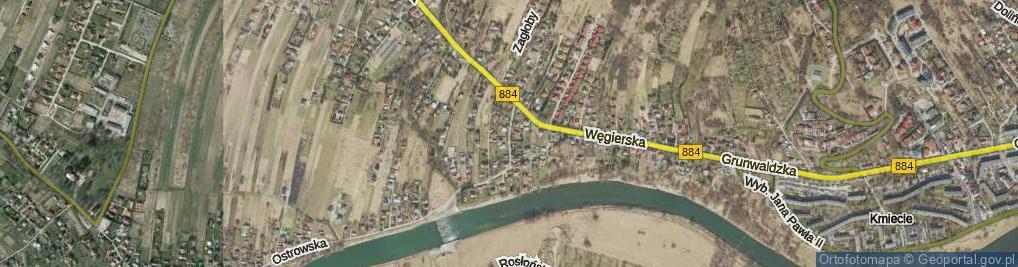 Zdjęcie satelitarne Dynowska ul.