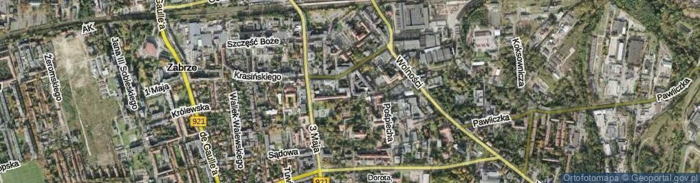 Zdjęcie satelitarne Dyboskiego Romana ul.