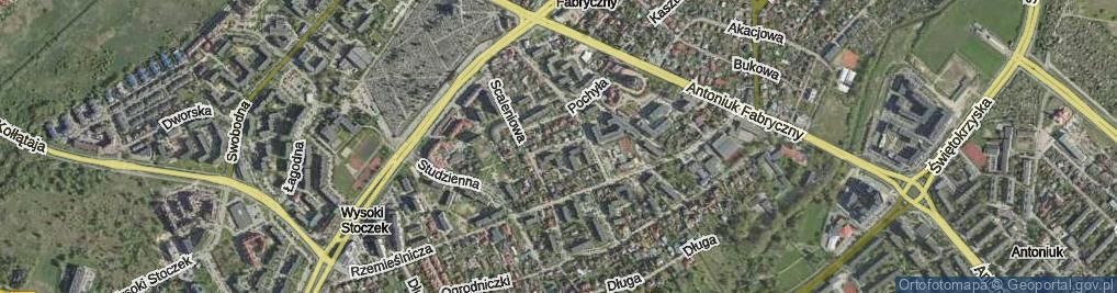 Zdjęcie satelitarne Dziecinna ul.