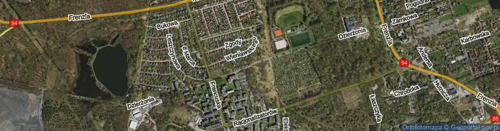 Zdjęcie satelitarne Dzierżonia Jana ul.