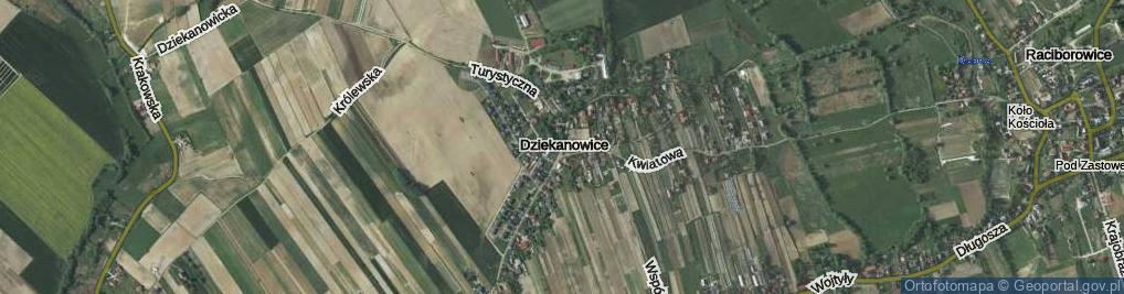 Zdjęcie satelitarne Dziekanowice ul.