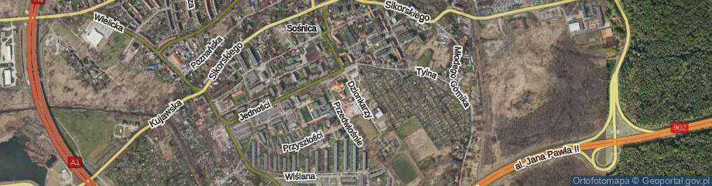 Zdjęcie satelitarne Dzionkarzy ul.