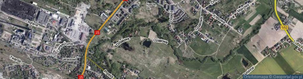 Zdjęcie satelitarne Działowa ul.
