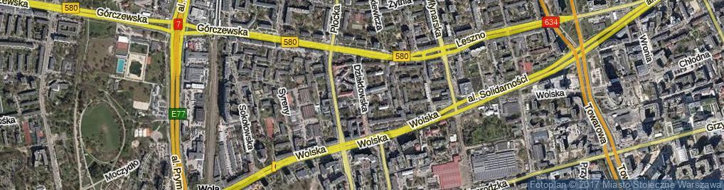 Zdjęcie satelitarne Działdowska ul.