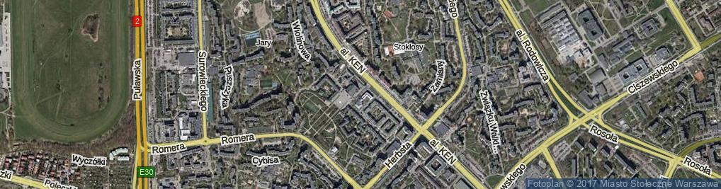 Zdjęcie satelitarne Dzwonnicza ul.