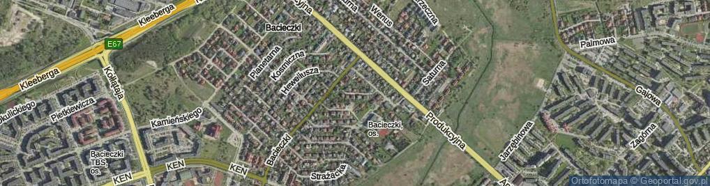 Zdjęcie satelitarne Elektronowa ul.