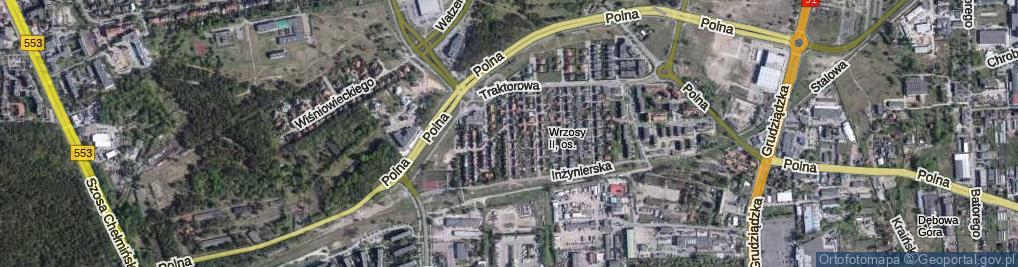 Zdjęcie satelitarne Elektryczna ul.