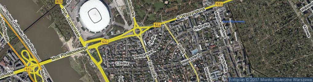 Zdjęcie satelitarne Elsterska ul.